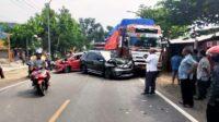 Kecelakaan Beruntun di Kecamatan Panceng, Kabupaten Gresik