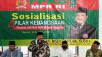 H. Muhtarom, S.Sos Saat Sosialisasi 4 Pilar Kebangsaan Lintasjatim.com
