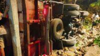 Kecelakaan Reuntun di Lampu Merah Klitik Madiun
