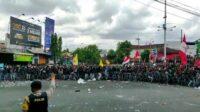 Demo di Jember Tolak Omnibus Law Berjalan Anarkis