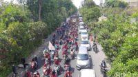 Demo di Surabaya Tolak Omnibus Law atau UU Cipta Kerja