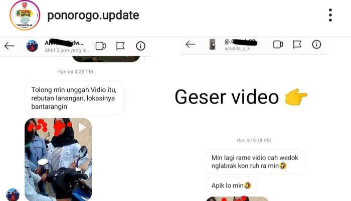Tangkap Layar Video Remaja Cekcok Rebutan Pacar
