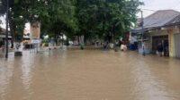 Banjir di Gresik Luapan Sungai Kali Lamong