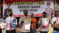 Pelaku Saat Gelar Perkara di Mapolres Ngawi