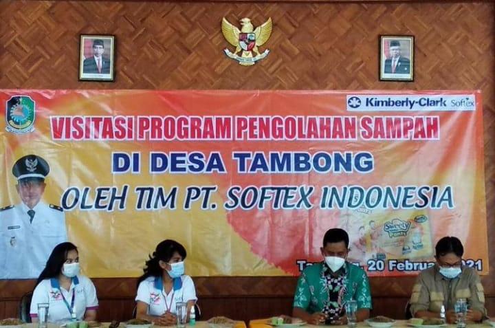 Kunjungan PT. Softex di Desa Tambong