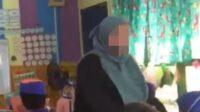Tangkap Layar Video Guru TK Banting Murid