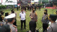 Penyekatan Jalan di Blitar Raya selama PPKM Darurat