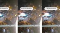 Tangkap Layar Video Bentrok Antara Pedagang dengan Satpol PP
