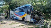 Bus Sugeng Rahayu yang Kecelakaan di Jalan Madiun-Surabaya