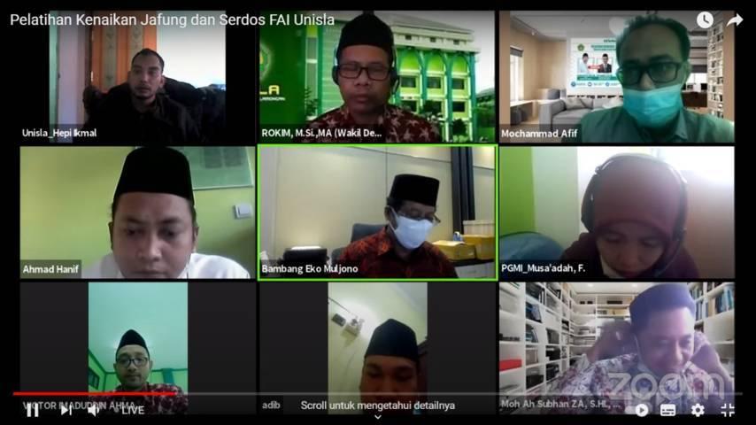 Webinar Fakultas Agama Islam (FAI) Universitas Islam Lamongan (Unisla)