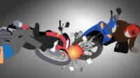 Ilustrasi Tabrakan Motor