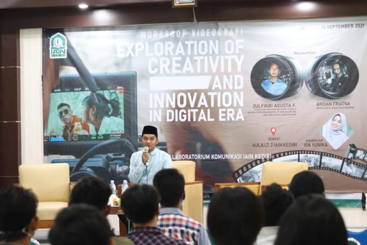 Laboratorium Komunikasi IAIN Kediri Gelar Workshop Editing dan Videografi