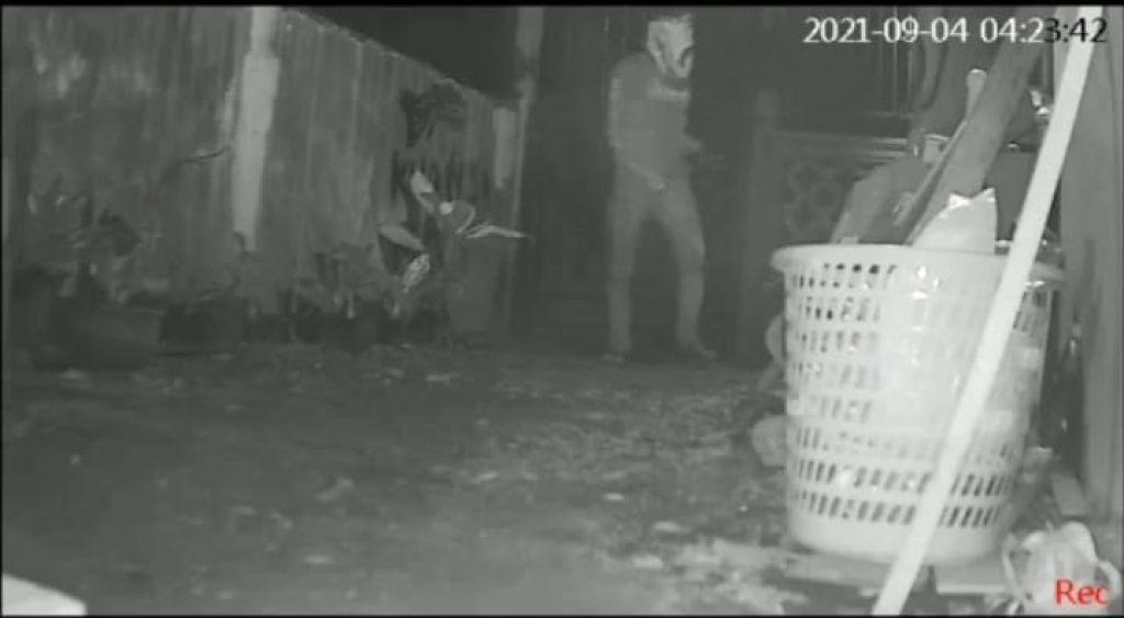 Maling Pakaian Dalam Tertangkap CCTV