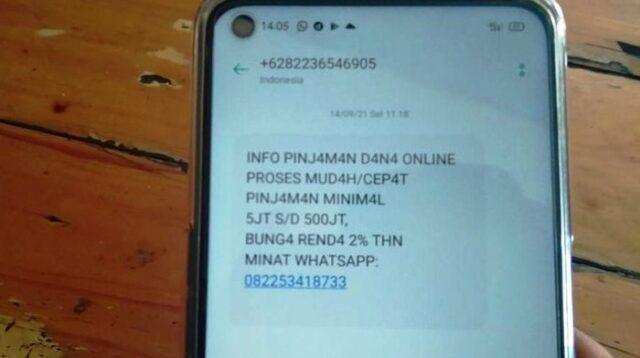Pesan Broadcast Via SMS Menawarkan Pinjaman Online